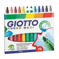 Viltpliiatsid Fila Giotto Turbo Maxi 12 värvi