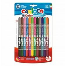 Viltpliiatsid Carioca 12+12 värvi  2 otsaga