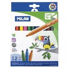 Viltpliiatsid Milan 12 värvi, jäme