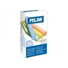 Tahvlikriit Milan 10 tk värvil. ümar