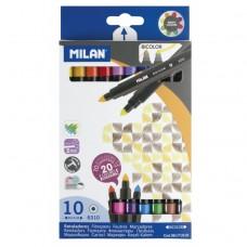Viltpliiatsid Milan 2otsaga  10=20 värvi