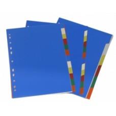 Vahelehed College 1-6 plastik,värviline